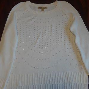 DEMOCRACY white Sweater blouse Long sleeve